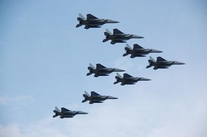F-15編隊飛行